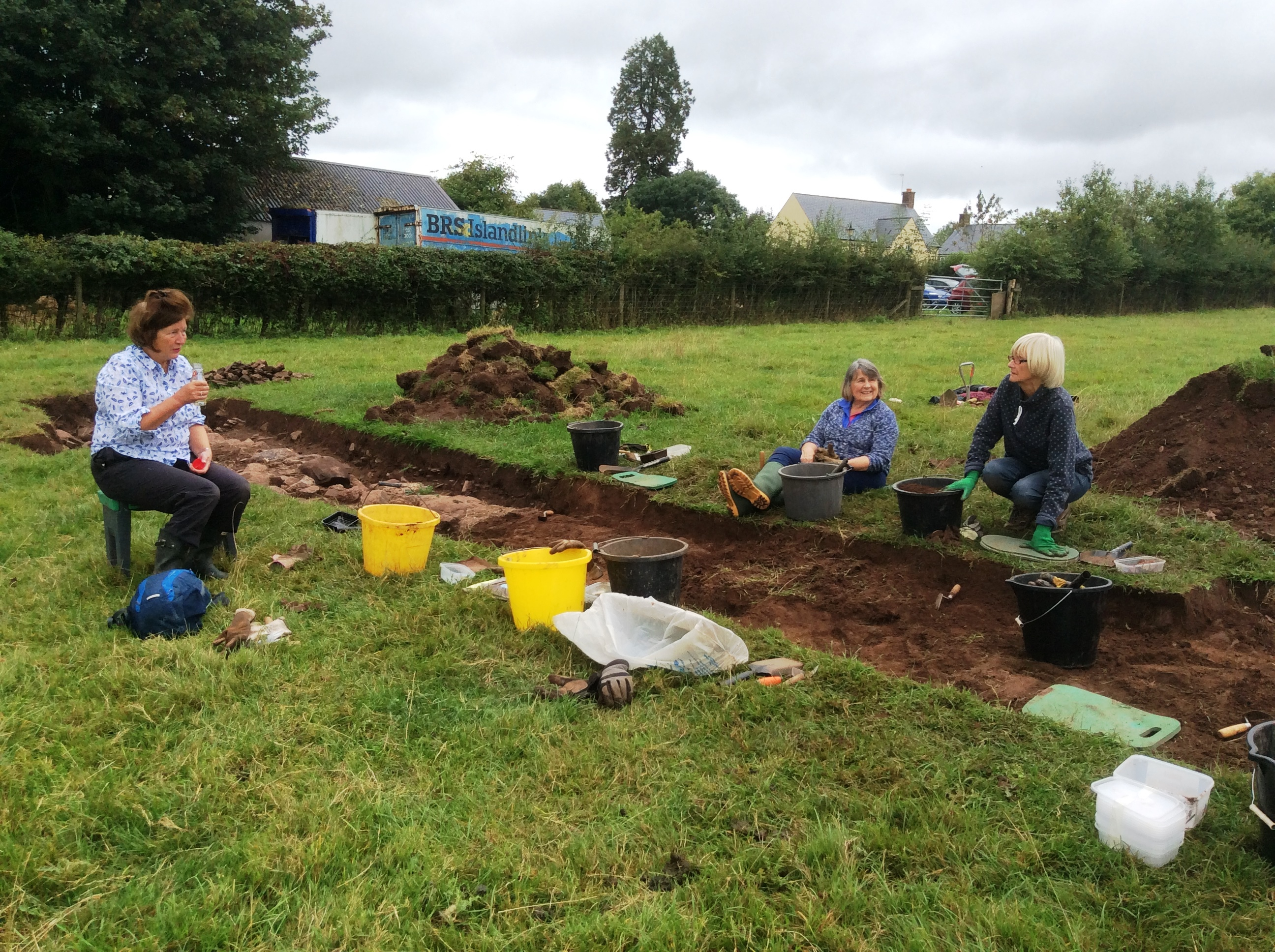Society digging at Trellech. Summer 2016