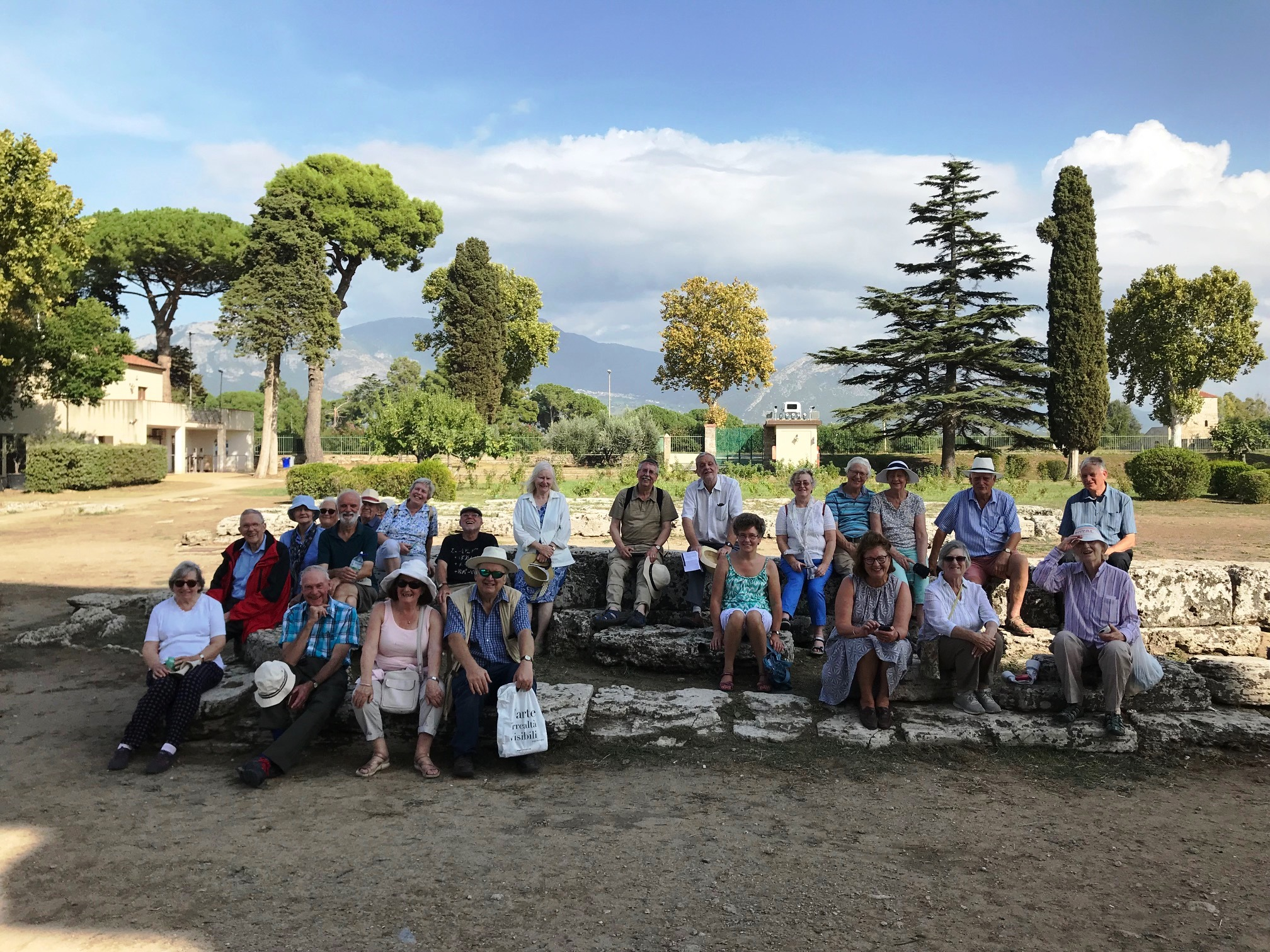 Happy faces on the Society visit to Paestum, Italy. September 2019