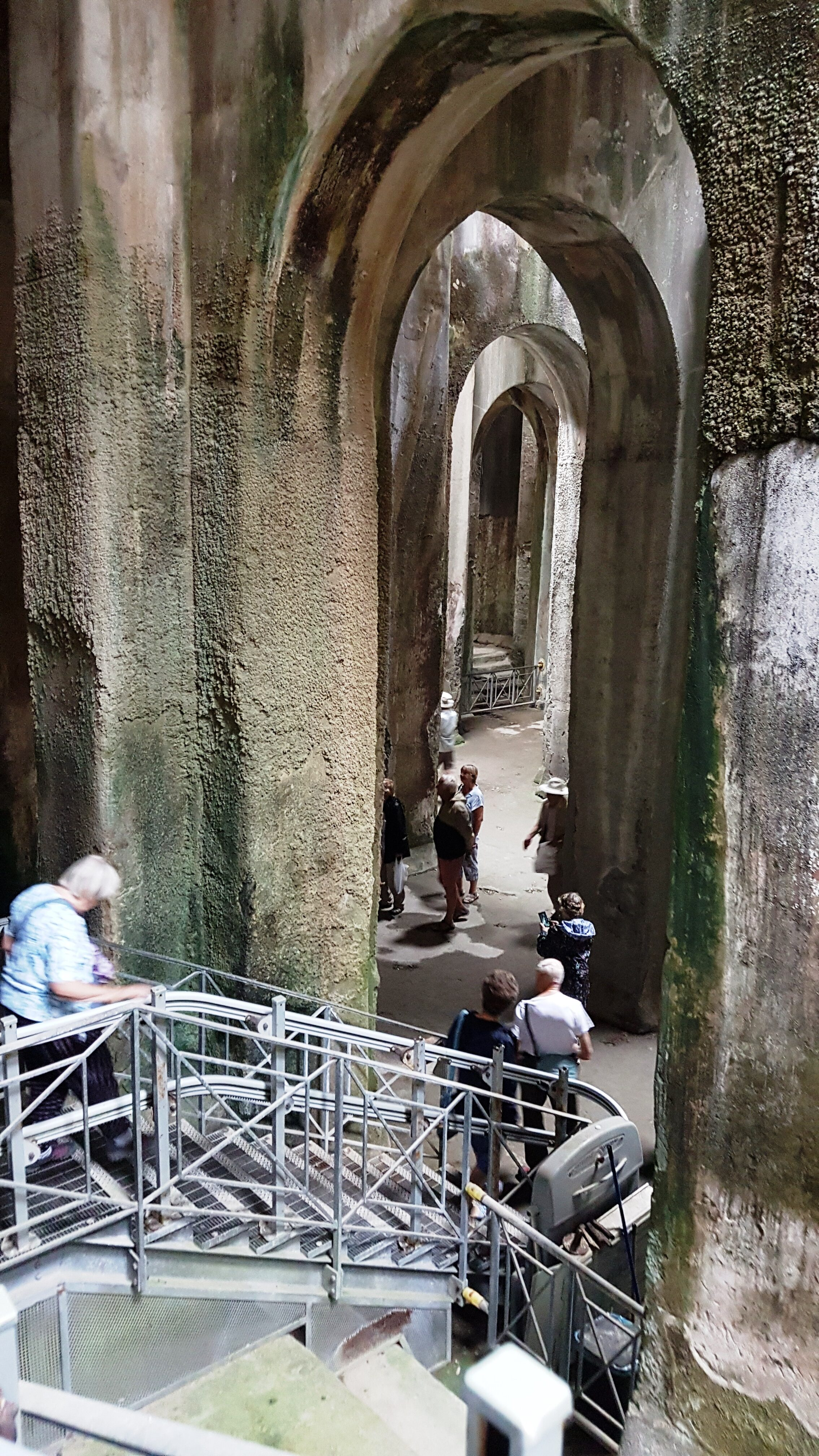 The society visits the magnificent Roman cistern at Pozzuoli, Italy. Sept 2019